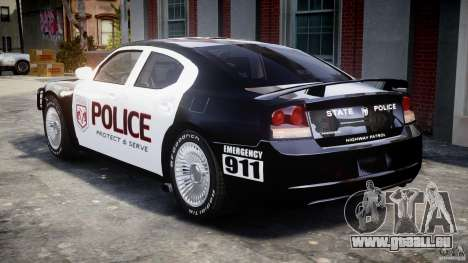 Dodge Charger SRT8 Police Cruiser pour GTA 4 est un droit