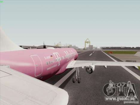 Airbus A319 Spirit of T-Mobile für GTA San Andreas rechten Ansicht