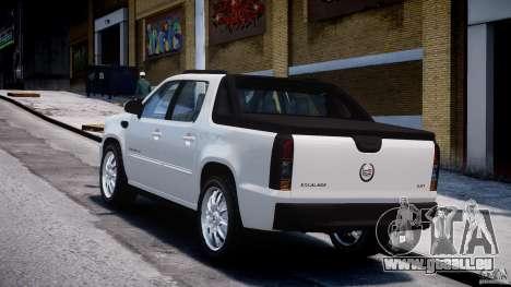 Cadillac Escalade Ext pour GTA 4 est une vue de l'intérieur
