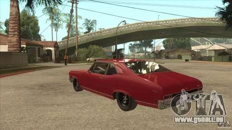 Chevrolet Nova SS für GTA San Andreas zurück linke Ansicht