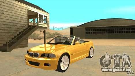 BMW E46 M3 Cabrio pour GTA San Andreas