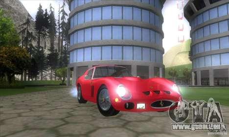 Ferrari 250 GTO 1962 pour GTA San Andreas vue arrière