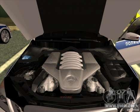 Mercedes-Benz E63 AMG W212 pour GTA San Andreas vue intérieure