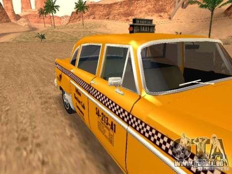 Checker Marathon Yellow CAB für GTA San Andreas rechten Ansicht