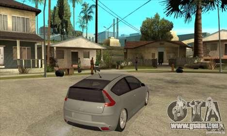 Citroen C4 VTS Coupe 2009 pour GTA San Andreas vue de droite