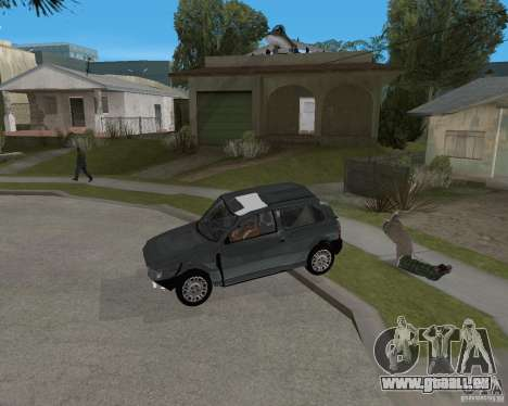 Fiat Mille Fire 1.0 2006 pour GTA San Andreas vue de dessous