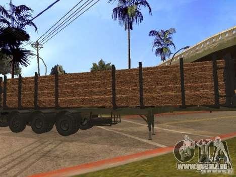 Remorque MAZ 99864 pour GTA San Andreas laissé vue
