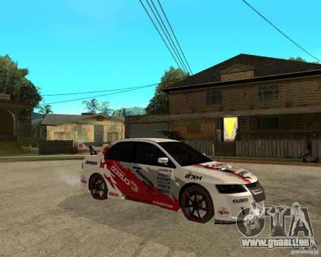 Lancer Evolution VIII, les Américains sont inter pour GTA San Andreas vue de droite