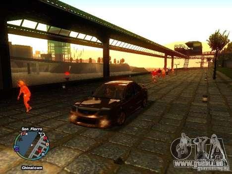 Mazda Mazdaspeed Familia 2001 pour GTA San Andreas sur la vue arrière gauche