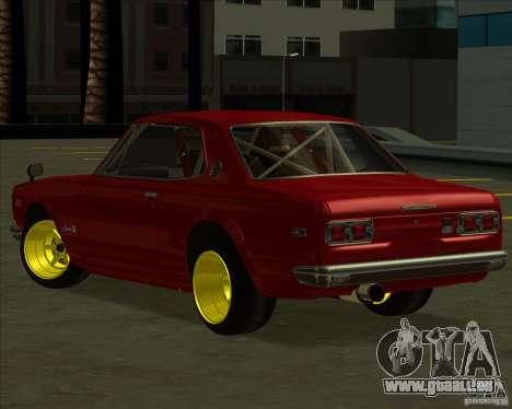 Nissan Skyline GTR 2000 pour GTA San Andreas laissé vue