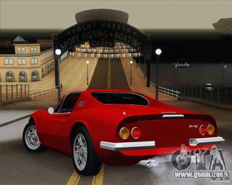 Ferrari 246 Dino GTS pour GTA San Andreas laissé vue