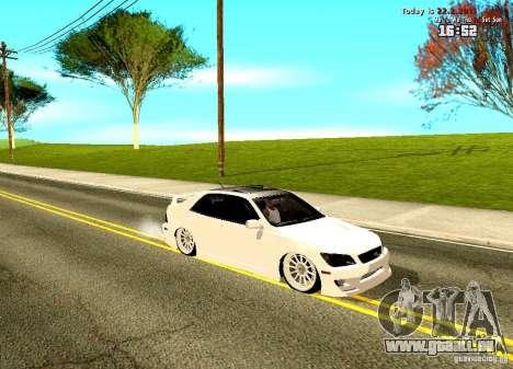 Toyota Altezza pour GTA San Andreas laissé vue