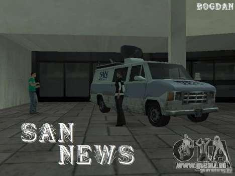 SFnews ou la possibilité de donner une interview pour GTA San Andreas