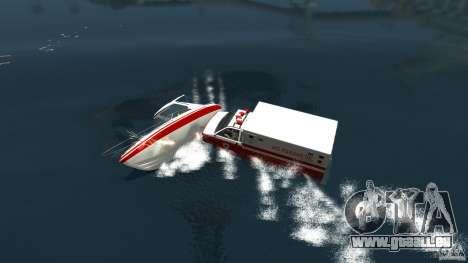 Ambulance boat pour GTA 4 Vue arrière de la gauche