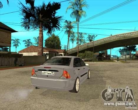 Ford Focus Sedan pour GTA San Andreas sur la vue arrière gauche