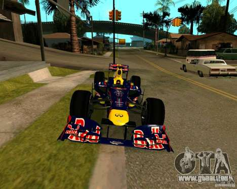 Red Bull RB8 F1 2012 pour GTA San Andreas vue de droite