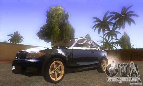 BMW 135i (E82) pour GTA San Andreas vue arrière