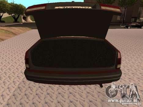 GAZ VOLGA 3110 v1.0 pour GTA San Andreas vue intérieure