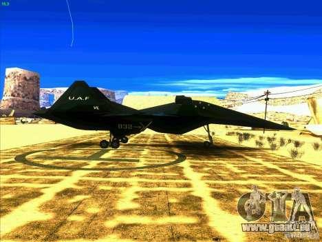 ADF-01 Falken pour GTA San Andreas vue de droite