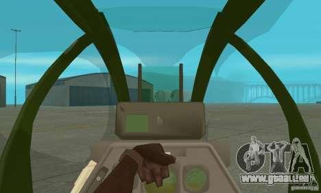 AH-1 super cobra pour GTA San Andreas vue intérieure