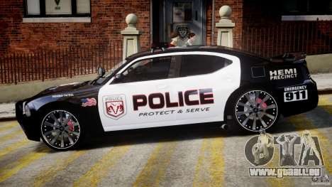 Dodge Charger NYPD Police v1.3 für GTA 4 hinten links Ansicht