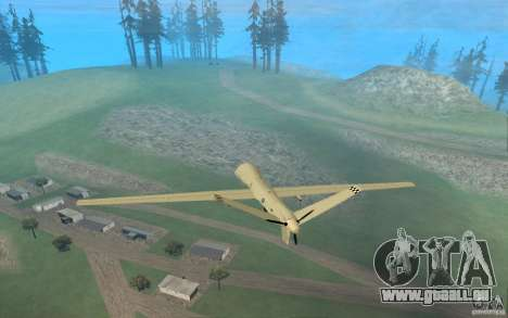 RQ9 Predator für GTA San Andreas linke Ansicht