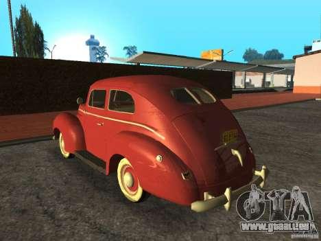 Ford 1940 v8 pour GTA San Andreas laissé vue