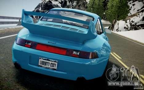 Porsche 911(993) GT2 1995 pour GTA 4 est une vue de l'intérieur