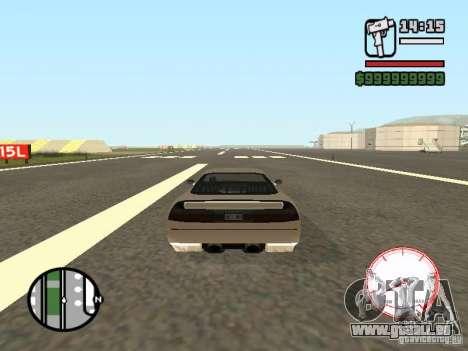 Compteur de vitesse DepositFiles pour GTA San Andreas deuxième écran