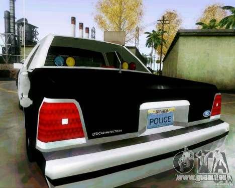 Ford Crown Victoria LTD 1991 LVMPD für GTA San Andreas zurück linke Ansicht