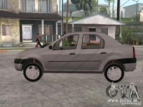 Dacia Logan 1.6 für GTA San Andreas zurück linke Ansicht