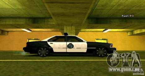 Sentinel Police LV für GTA San Andreas zurück linke Ansicht