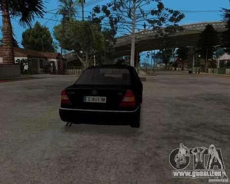 Mercedes-Benz C220 W202 1996 pour GTA San Andreas sur la vue arrière gauche