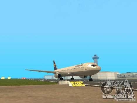 Boeing 767-300 Lufthansa pour GTA San Andreas laissé vue