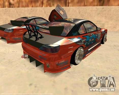 Nissan Silvia S15 Ms Sports pour GTA San Andreas sur la vue arrière gauche