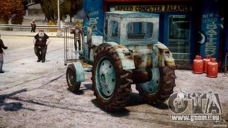 Traktor T-40 m für GTA 4 hinten links Ansicht