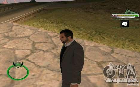 Homme d'affaires de nouvelle peau HD pour GTA San Andreas deuxième écran