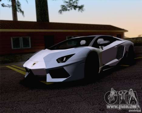 Travaux de peinture Lamborghini Aventador LP700- pour GTA San Andreas laissé vue