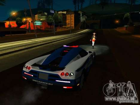Koenigsegg CCX Police für GTA San Andreas Innenansicht