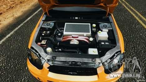 Subaru Impreza WRX STI 2005 pour GTA 4 vue de dessus
