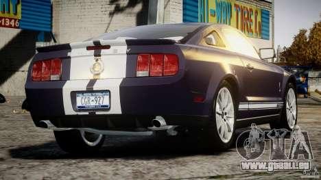 Shelby GT500KR 2008 pour GTA 4 Vue arrière de la gauche