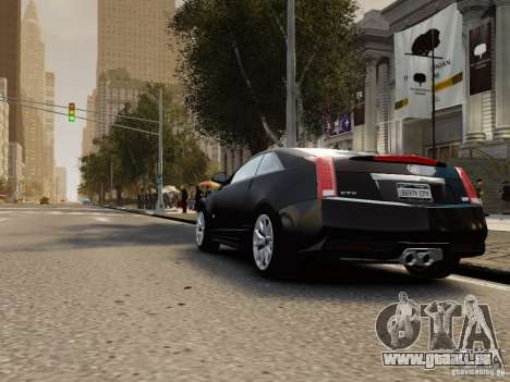 Cadillac CTS-V Coupe 2011 für GTA 4 hinten links Ansicht