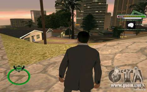 Homme d'affaires de nouvelle peau HD pour GTA San Andreas quatrième écran
