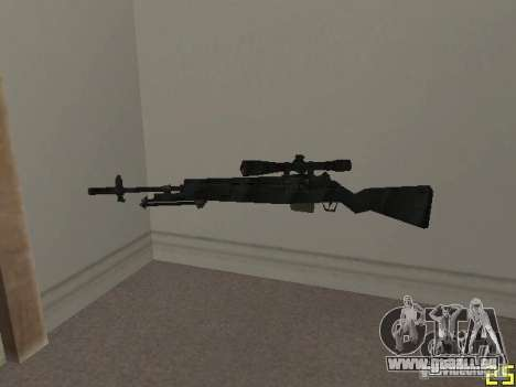 Armes de la COD MW 2 pour GTA San Andreas cinquième écran