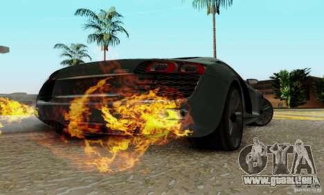 Audi R8 LeMans pour GTA San Andreas vue de droite