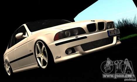 BMW M5 E39 pour GTA San Andreas vue de dessus