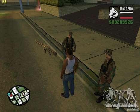 Waffen werfen für GTA San Andreas zweiten Screenshot