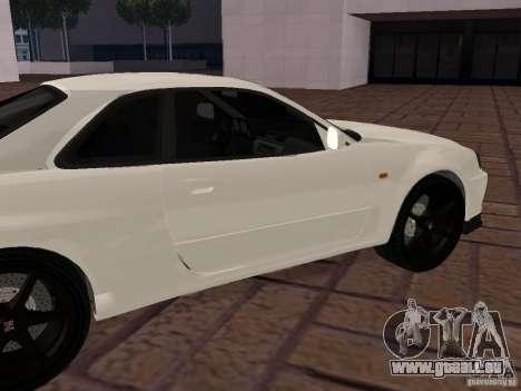 Nissan Skyline GT-R R34 Tunable pour GTA San Andreas laissé vue