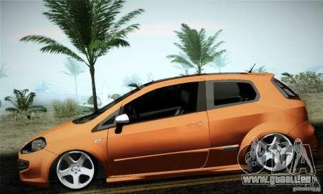 Fiat Punto Evo 2010 Edit pour GTA San Andreas laissé vue