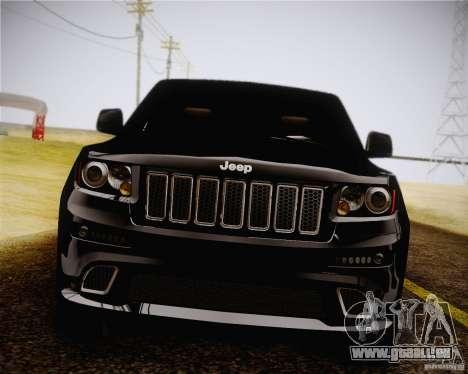 Jeep Grand Cherokee SRT-8 2012 pour GTA San Andreas sur la vue arrière gauche